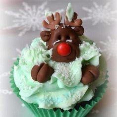 Cupcake de Noël - Renne du père Noël / Christmas cupcakes - Reindeer cupcakes