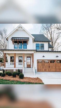 Dream House Exterior, Exterior House Colors, Home Exteriors, House Exterior Design, Simple House Exterior, Home Styles Exterior, Barn House Plans, Dream House Plans, Dream Houses