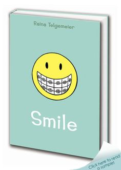 (Grades 5 and up) Have you ever had that nightmare about losing all your teeth? Raina Telgemeier (author and artist of Drama) LIVED that nightmare. Set during the author's 1980s childhood, this memoir in comics is both sad and funny, touching and lighthearted. As much about the birth of her graphic novels career as it is about surviving adolescence, Smile is an entertaining, great read. Click to see sample pages from the book.