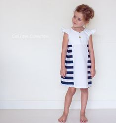 The Papillon Dress PDF pattern and tutorial - sizes 2t - 10 - childrens sewing pattern - Instant download