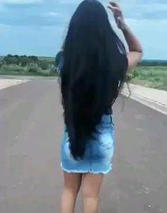 Black Hair Video, Long Hair Video, Long Black Hair, Super Long Hair, Beautiful Long Hair, Moon Art, Thick Hair, Hair Videos, Rapunzel