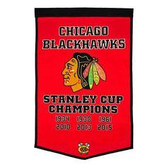 Chicago Blackhawks Dynasty Banner, Multicolor