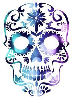 """""""Sugar Skull"""" Travel Mug von GodIsDead-iknow – Sugar Skull - Malvorlagen Mandala Skull Candy Tattoo, Sugar Skull Tattoos, Candy Skulls, Mexican Skull Tattoos, Sugar Skull Painting, Sugar Skull Artwork, Mexican Sugar Skulls, Sugar Scull, Skull Coloring Pages"""
