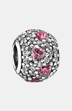 PANDORA 'Shimmering Heart' Pavé Bead Charm available at #Nordstrom