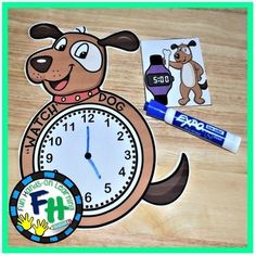 """Telling Time Activity Center {""""Watch"""" Dog}"""