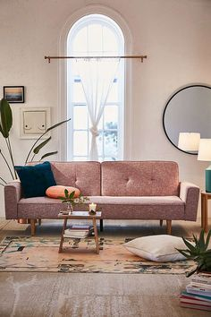 Urban Outfitters Bella Tweed Sleeper Sofa