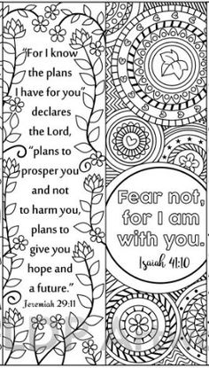 Printable Bible Verse Coloring Bookmarks For Kids And Adults