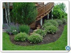 around deck plants · Landscape StructureGarden Landscape IdeasLandscape .