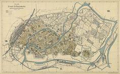 Map of Strasbourg Vintage map of Strasbourg by AncientShades