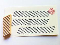 Washi Tape Stempel. handgeschnitzte Stempel. schrägen Linien.