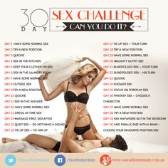 The 30 Day Sex Challenge - are you up for it?