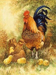 *El gallo siempre fue mi favorito ,tenia  uno de metal pintado que lo llevaba…