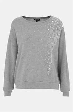 Topshop 'Galactic' Rhinestone Embellished Sweatshirt available at #Nordstrom