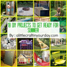 18 DIY projects to get ready for SUMMER!   A Little Craft In Your DayA Little Craft In Your Day