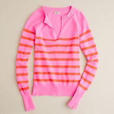 j crew cashmere candy-stripe sweater