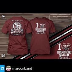 "@maroonband---These shirts were a hit at Parents Day last week, and now they are available for purchase on the band's website. msuband.msstate.edu under ""Band News."""