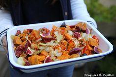 Patates douces rôties et figues fraîches