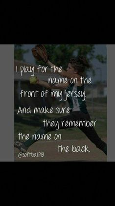Just remember the name on the back and i will play for the name on the front ~softball quote inspire~ I've been instructed that whoever this baseball player is to stay away from you. You only want to hurt me Girls Softball, Softball Players, Fastpitch Softball, Softball Stuff, Softball Things, Lacrosse, Alabama Softball, Baylor Basketball, Softball Cheers