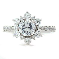 Serenade Diamonds Snowflake Diamond Ring, $1,750.01+ | 45 Engagement Rings Inspired By Disney Princesses