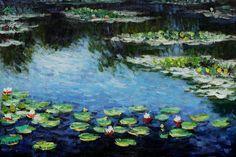 Monet - Water Lilies www.overstockart.com