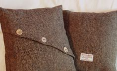 Looking for some cushion ideas - tweed pillows | Decorative pillow - British Harris Tweed cushion or pillow cover hand (http://www.etsy.com/listing/122724985/decorative-pillow-british-harris-tweed)