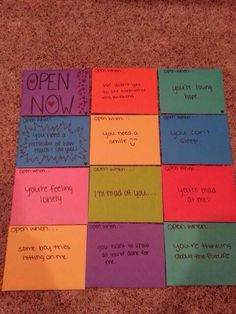 Little messages for your girlfriend or boyfriend!