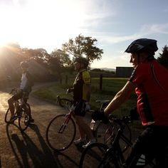 Perfect evening for a ride with a lovely bunch of people.