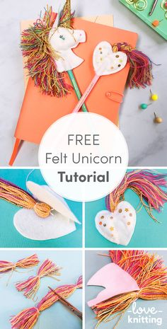 You need this unicorn in your life! Designer Christine Leech has shared tihs FREE tutorial for Felt Unicorn Pencil Toppers on the LoveKnitting Blog.