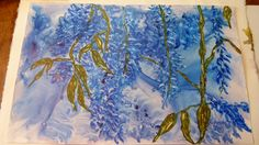 Wisteria Vine Watercolor on Yupo paper Wisteria, Watercolours, Vines, Paper, Painting, Art, Painting Art, Paintings, Kunst