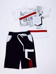 Bisiklet Baskılı Cepli Takım (81077) - Erkek Çocuk Giyim