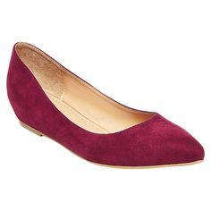 Women's Drew Pointed Toe Ballet Flats - Merona Burgundy (Red) 8.5