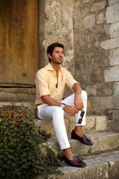 How to wear men's white pants avoiding mistakes