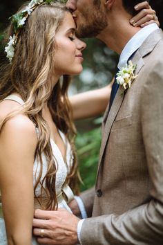 Pure sweetness! | Bride and groom | Dreamy Woodland Wedding | Created Image Photography