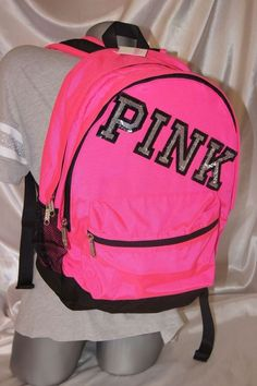 VICTORIA'S SECRET PINK BLING CAMPUS BACKPACK PURSE BEACH BAG TOTE CARRY ON NWT #VICTORIASSECRETPINK #BACKPACKBEACHBAGGYMTOTECARRYON: