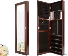 life ideas jewelry armoire wall mount with mirror hanging over the and