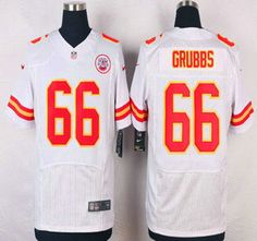 Kansas City Chiefs Jersey 66 Ben Grubbs White Road NFL Nike Elite Jerseys