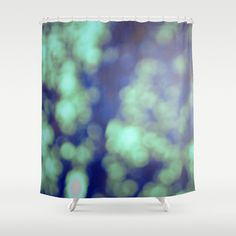 Bokeh Green Shower Curtain - Bokeh Photography - Green Bathroom Decor - Original Photograph - Green Shower Curtain - Made to Order (136.00 USD) by ShelleysCrochetOle