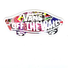 #1380 Special Color VANS OFF THE WALL , 10 Cm, Decal Sticker   DecalStar Part 61