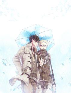 I'm so sorry for being late laskfjalfsj o<-< When I saw your wishlist i was so stoked because I LOVE KUROO AND I L. HQ : Spring Rain for Bokuto Koutarou, Tsukkiyama, Kuroo Tetsurou, Akaashi Keiji, Kuroken, Bokuaka, Kagehina, Haikyuu Ships, Haikyuu Fanart