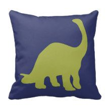 This stylish Dinosaurs pillow will look great in your new baby's nursery or playroom and will be loved by your little one as they grow.  #dinosaurs #dinos #toddler #boy #playroom #decor #pillow #lumbar #accent #silhouette #baby #animals #ideas #inspiration #art #simple #silouhette