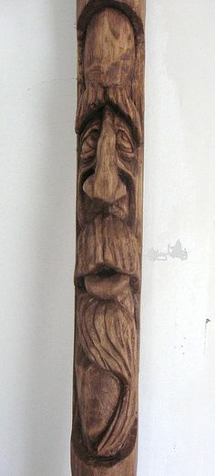 The Apprehensive Soul (hand carved wood spirit walking stick) by © chessmkr1 (Jim Arnold), via Flickr.com