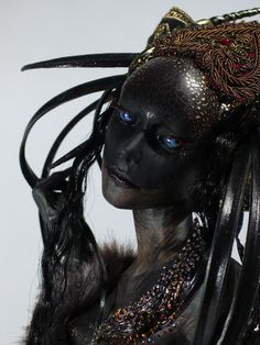 Art Dolls - Virginie Ropars Image could contain: 1 person Roofing Basics Article Body: Roofing is so Fantasy Makeup, Dark Fantasy Art, Dark Art, Maquillage Halloween, Halloween Makeup, Character Inspiration, Character Art, Fashion Inspiration, Illustration Fantasy