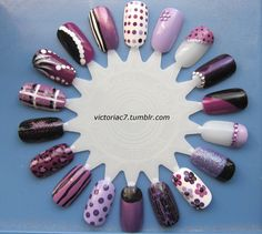 the wheel of purple nails