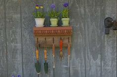How to Turn a Cornice Into a Garden Tool Holder (Photo:  Amy Rosenfeld)