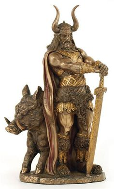 #pagan #wicca #witchcraft #celtic #druid #tarot Freyr Statue $59.95