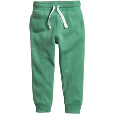 Sweatpants $12.99 ($13) ❤ liked on Polyvore featuring activewear, activewear pants, sweat pants, green sweat pants and green sweatpants