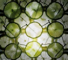 Juice to make juice: Caleb Charland uses nails hidden inside the fruit, such as limes (pic...