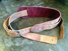 Custom leather guitar straps. Kurier.