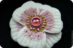 Создаем брошь-цветок «Аврора» - Ярмарка Мастеров - ручная работа, handmade