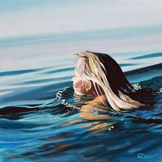 "Saatchi Online Artist: Antoine Renault; Acrylic, 2012, Painting ""Bain de soleil (Sun bath)"""